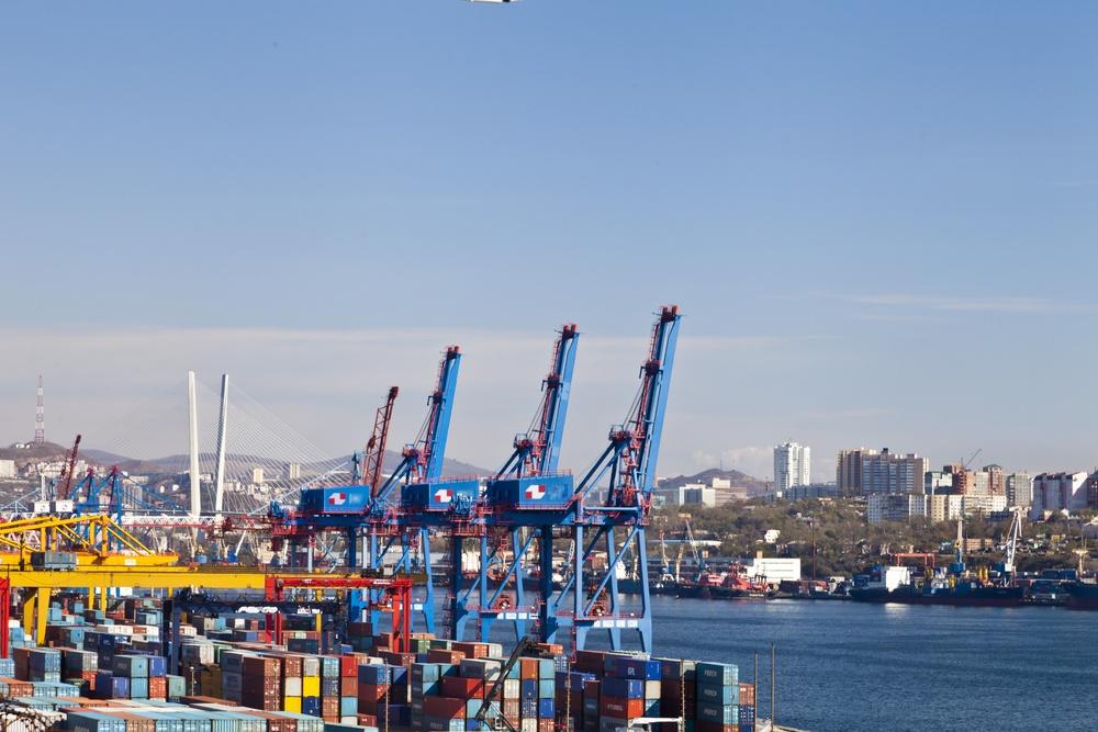 Cranes in port-1