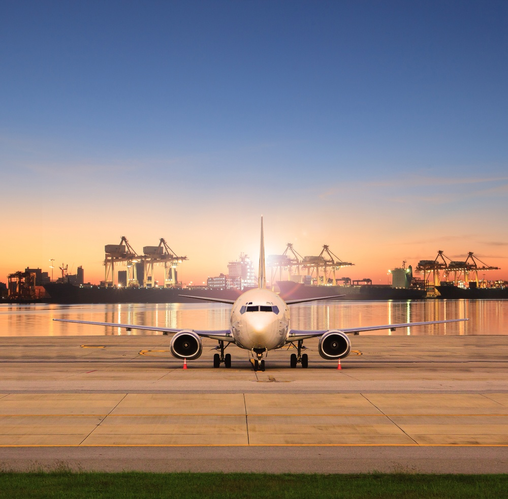 Cargo plane airport shipping port