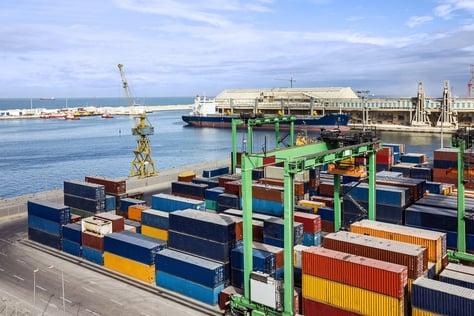 Container terminal in Casablanca sea port, Morocco.jpg