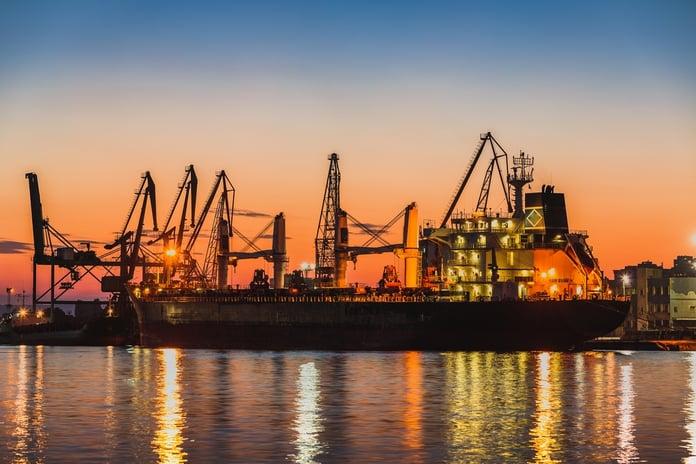 port terminal sunset