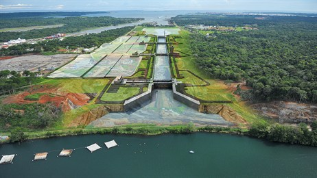 An Image Of The Panama Canal