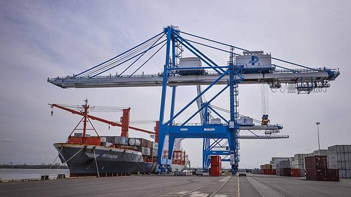 container shipping loading dock
